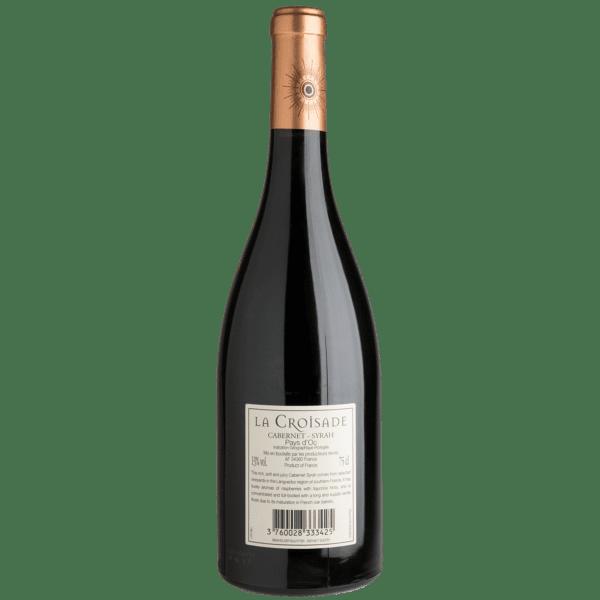 La Croisade Cabernet Syrah Rückseite Flasche